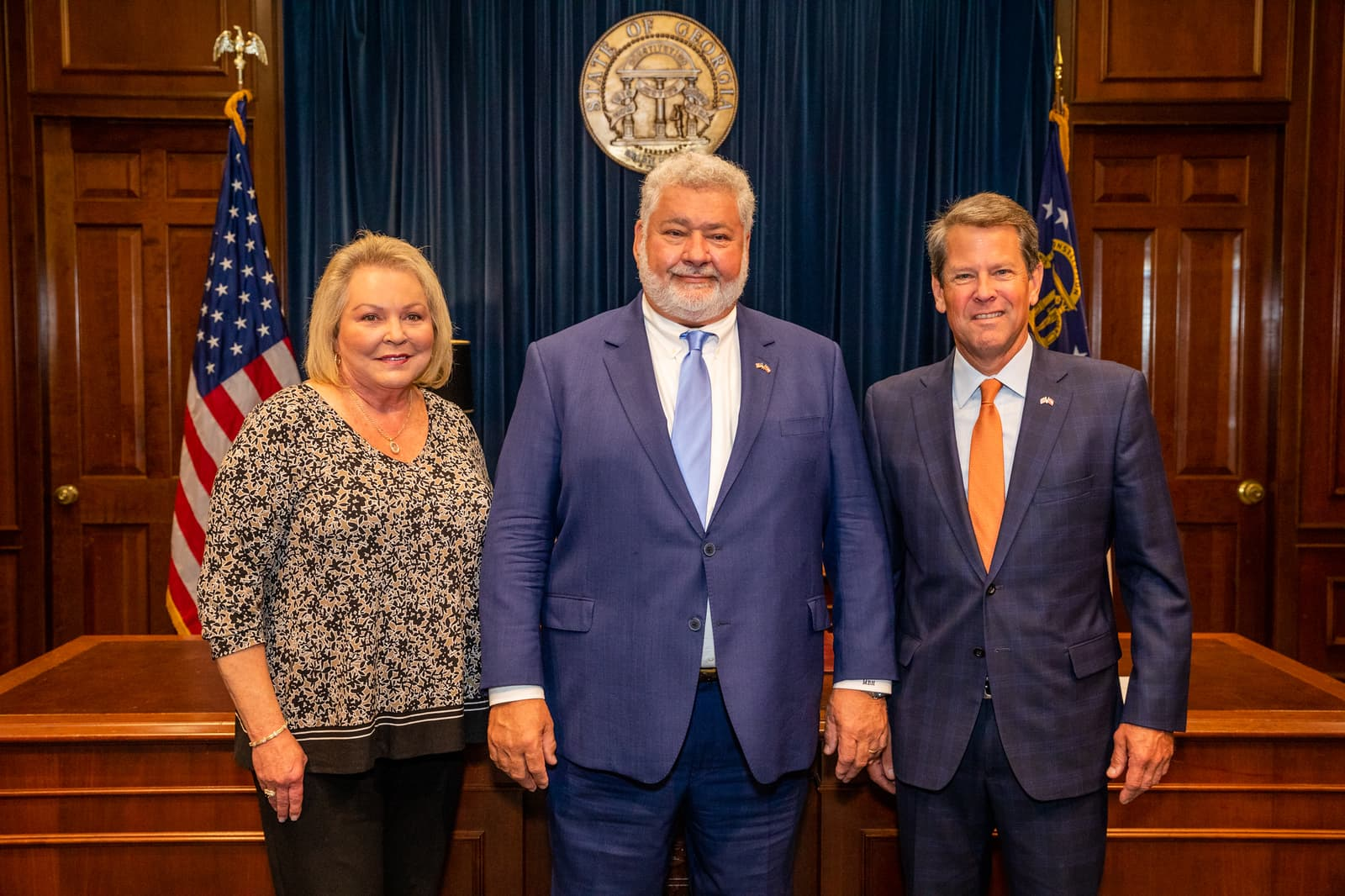 Mark Herbert at Swearing in Ceremony with Brian Kemp